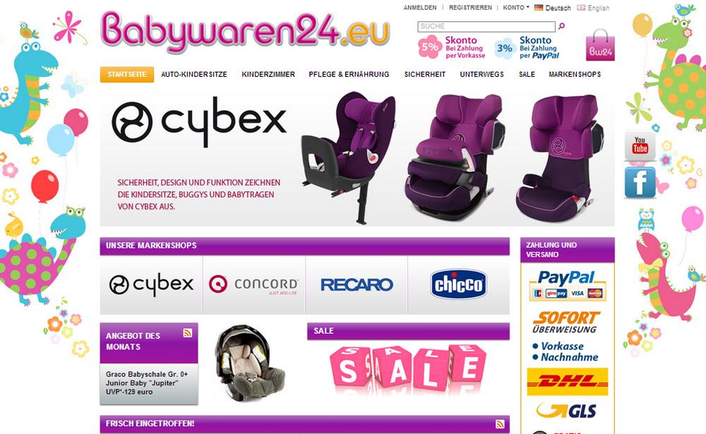 Online-Shop babywaren24.eu