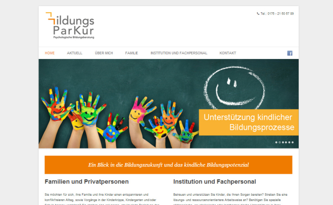 Website Bildungsparkur.de