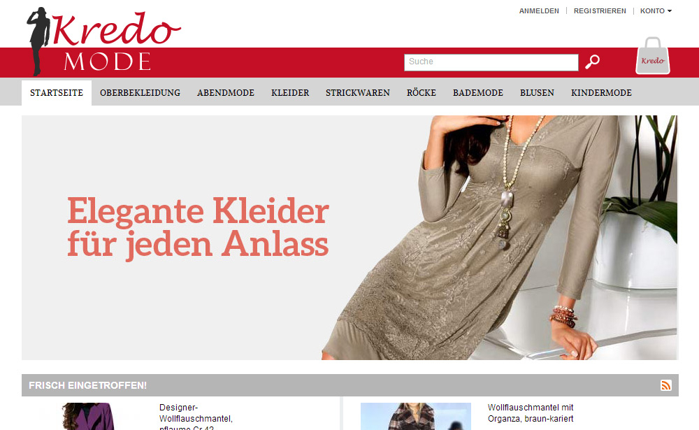 Online-Shop Mode-Kredo