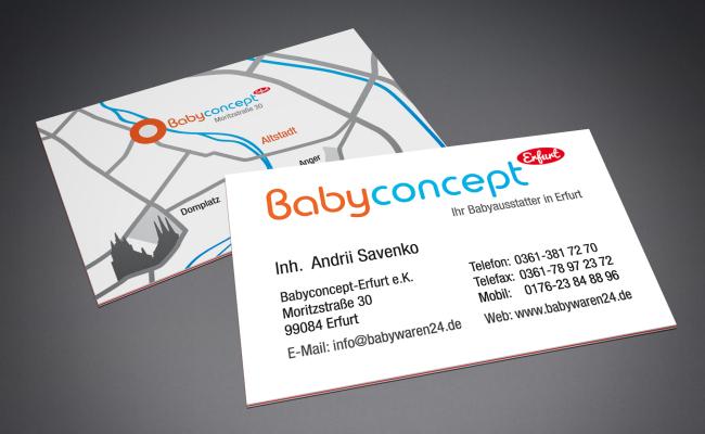 """Visitenkarten für """"Babyconcept"""""""
