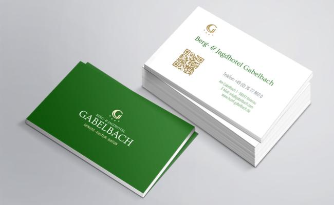 Drucksachen für das Berg- und Jagdhotel Gabelbach